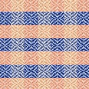 Diamond Tweed Plaid Orange and Blue