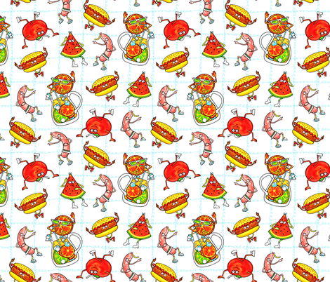 Delicious_Party/White fabric by iryna_ruggeri on Spoonflower - custom fabric