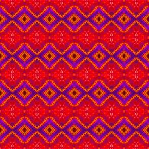 Vibrant Diamonds Tie Dye