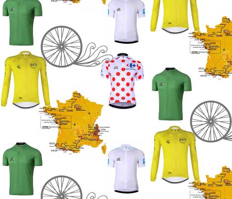 Tour de France 2018 fabric by twilfley on Spoonflower - custom fabric