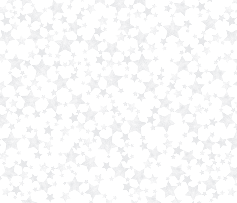 Lino Printed Silver Gray Stars fabric by itsjensworld on Spoonflower - custom fabric