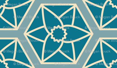 Blue Daffodil Hexagons