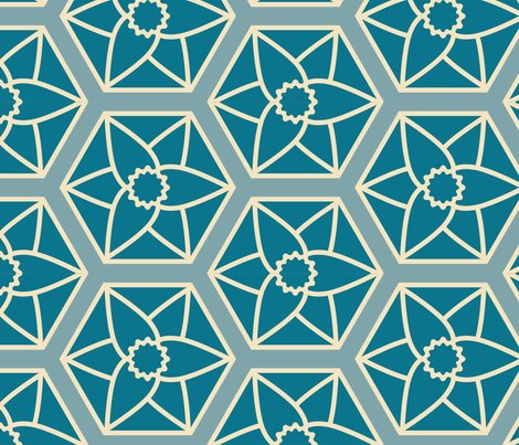 Blue_daffodil_hexagons-01_shop_preview