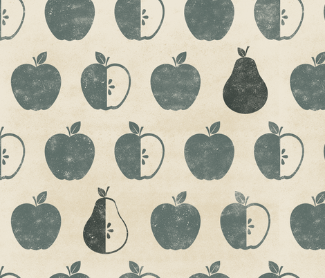 Apples and Pears fabric by latheandquill on Spoonflower - custom fabric