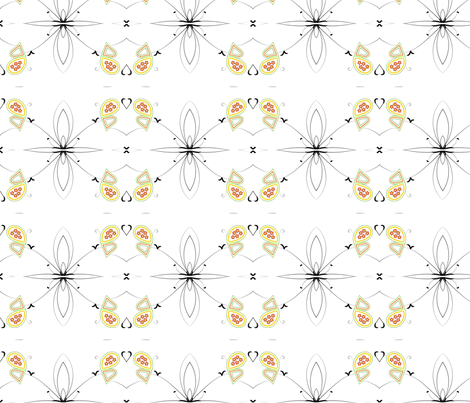 Butterfly Print (Mirrored) fabric by yewtree on Spoonflower - custom fabric