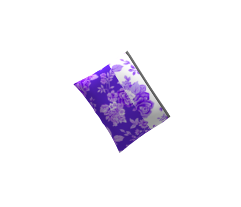 Large Watercolor Floral/Pink and Lilac on Deep Violet