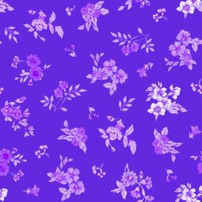 Small WatercolorFloral/Pink and Lilac on Viiolet