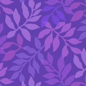 Daisy Leaf/ Pink and Violet