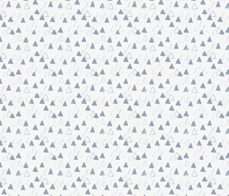 Mountains in Soft Blue fabric by sewnhandmade on Spoonflower - custom fabric