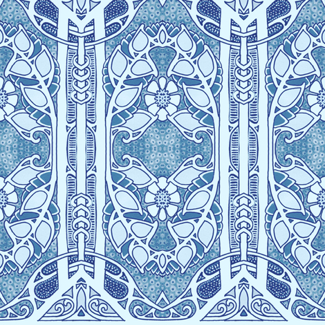 Round Rosie Blues fabric by edsel2084 on Spoonflower - custom fabric