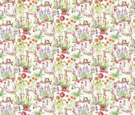 GardeningFairiesSm fabric by blairfully_made on Spoonflower - custom fabric