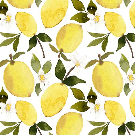 Lemons  fabric by mintpeony on Spoonflower - custom fabric