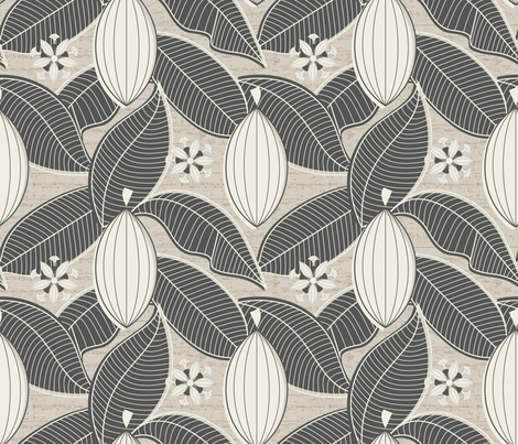 Cacao Farmhouse_Intense fabric by mia_valdez on Spoonflower - custom fabric
