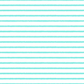 1382_White with Aqua Stripes, 6b3ce3
