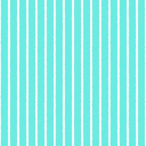 1382_Aqua with white Vertical stripes