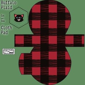 Buffalo plaid cloth pad