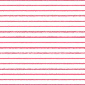 1382_White with Melon Stripes, ff6a83