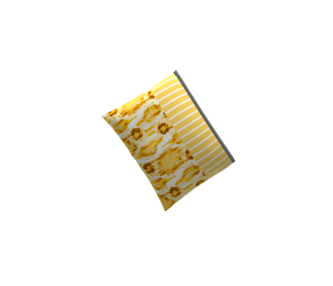 1382_Gold with White Vertical Stripes