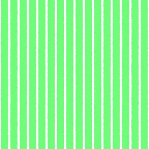 1382_Green with White Vertical stripes