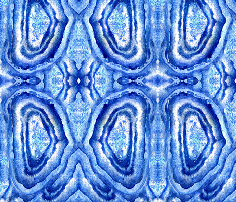 crazy blue agate 2_1 fabric by ivyb on Spoonflower - custom fabric
