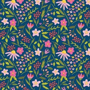 Springtime Floral Navy
