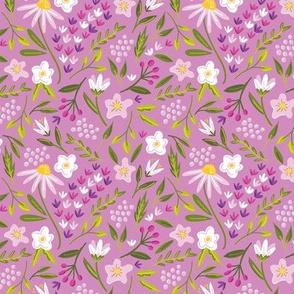 Springtime Floral Purple