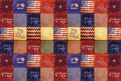 """Made in America"" fabric by lacklandacres on Spoonflower - custom fabric"