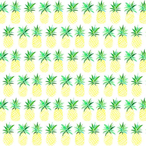 Yellow Pineapples fabric by emeryallardsmith on Spoonflower - custom fabric