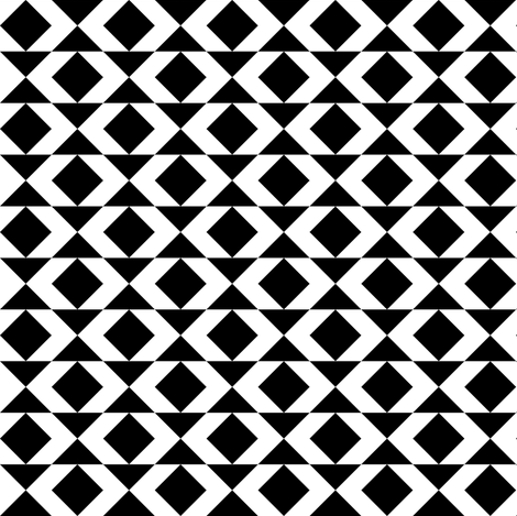 Black-and-white geometry fabric by toy_joy on Spoonflower - custom fabric