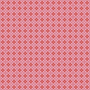 Checkered pattern pink