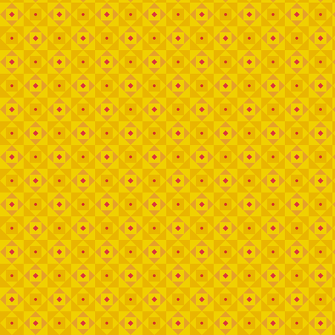 Checkered pattern yellow fabric by toy_joy on Spoonflower - custom fabric
