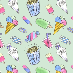 Candy pattern green