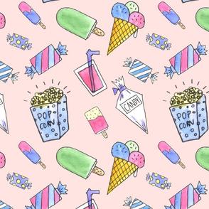 Candy pattern pink