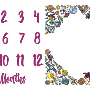 Miletones Months Blanket SPACE FRAME Purple