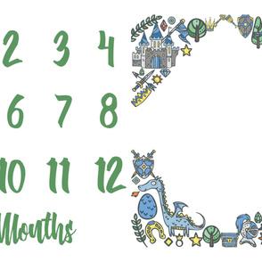Miletones Months Blanket Kings Green
