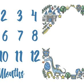 Miletones Months Blanket Kings Blue