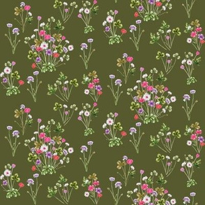 Meadowsweet Magenta and Olive