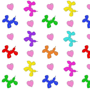 Balloon Dogs and Hearts