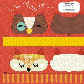sleep mask Owl and Fox