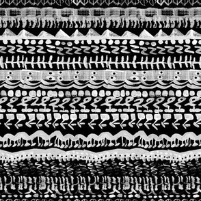 Tribal abstract black and white