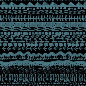 Tribal abstract teal black