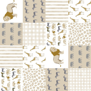 safari quilt baby neutral lion giraffe nursery crib