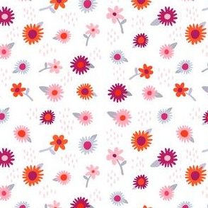 Daisies + Purples + Pink + Reds