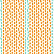 DOTS AND STRIPES orange and aqua