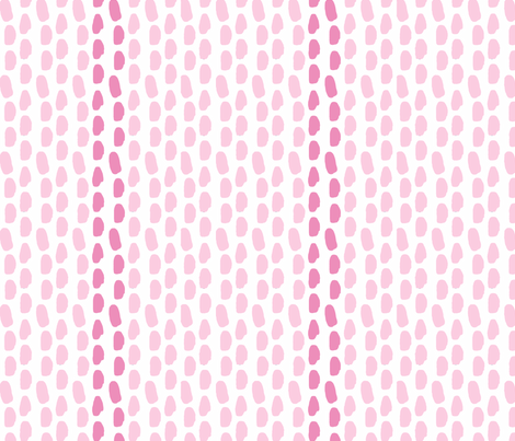 DOTS AND STRIPES pink fabric by nadinewestcott on Spoonflower - custom fabric