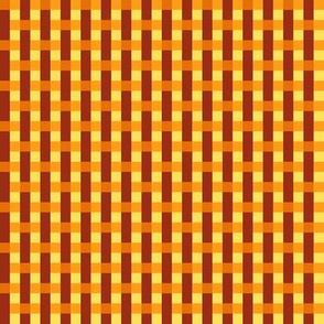LS Tiny Woven Liquid Sun - orange, rust, yellow