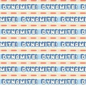 Dynamite!*  ||  polyester jacquard stripes pixel vintage double knit 70s retro groovy tee t-shirt shirt children childrens tnt typography vintage