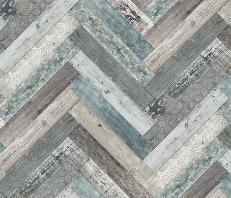 Vintage Wood Tiles Herringbone fabric by delinda_graphic_studio on Spoonflower - custom fabric