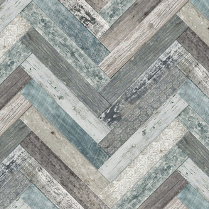 Vintage Wood Chevron Tiles Herringbone