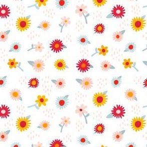 Daisies + Yellows + Peach + Blues + Reds